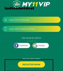 my11vip register now