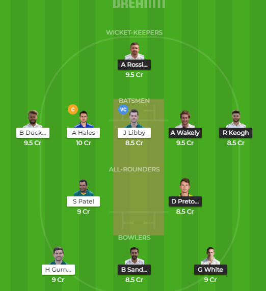 NOTTS VS NORDream11 Head To Head And Small League Team