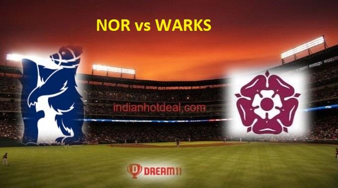 NOR vs WARKS Dream11 Team Prediction, English T20 Blast 2019