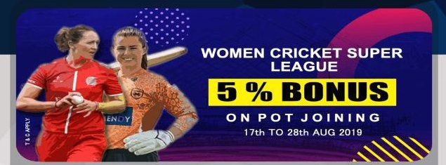 playerzpot women cricket league add money offer