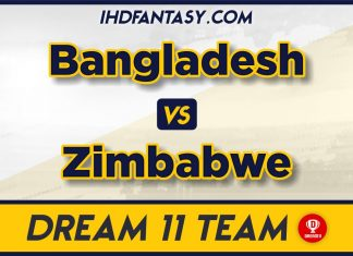 BAN vs ZIM 4th T20 Dream11 Team Predictions For Today Match