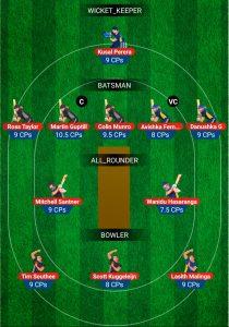 NZ vs SL 3rd t20 My11Circle Fantasy Team Prediction