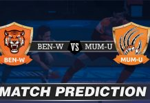 BEN vs MUM Dream11 Team Prediction Today - VIVO Pro Kabaddi League