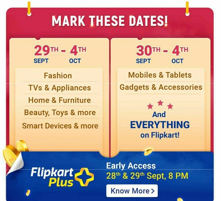 Flipkart Big Billion Days Sale 2019-