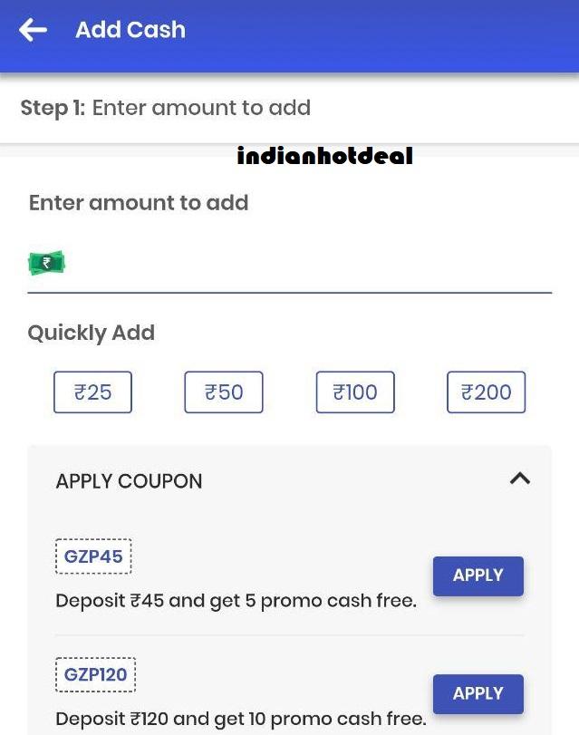 gamezop add money promo codes