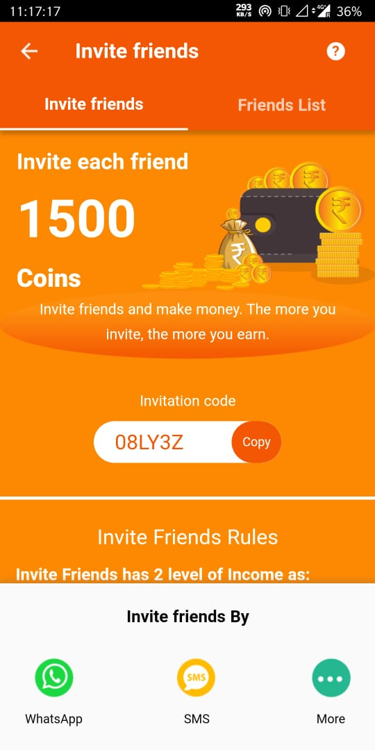 rozdhan invite and earn
