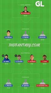 RB vs EIB Dream11 Team Grand Leagues