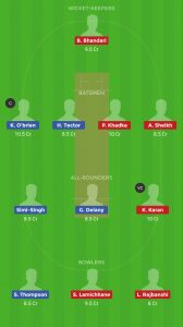 IRE vs NEP Dream11 Team for small league