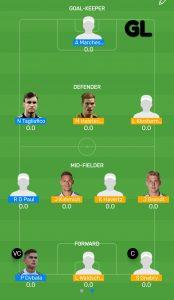 FINAL: ARG vs GER Myteam11 Fantasy Football Team (GRAND LEAGUE)