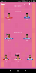 BEN vs DEL Dream11 Team For Small League