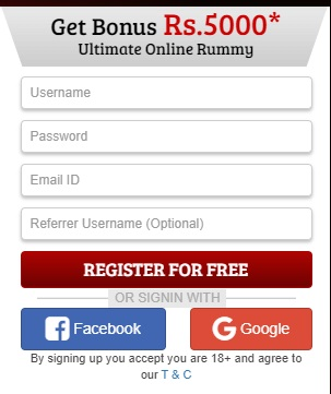 deccan rummy signup form