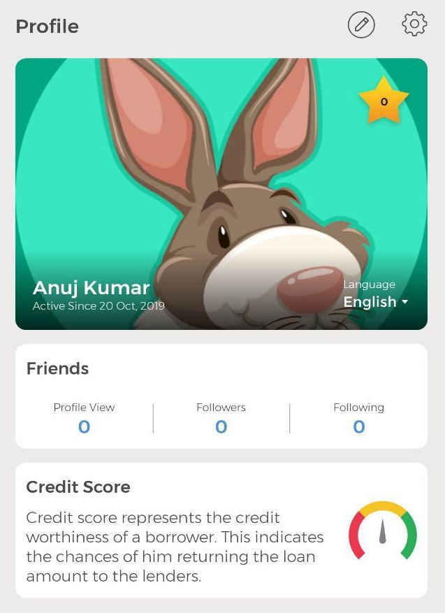 winzo app profile section