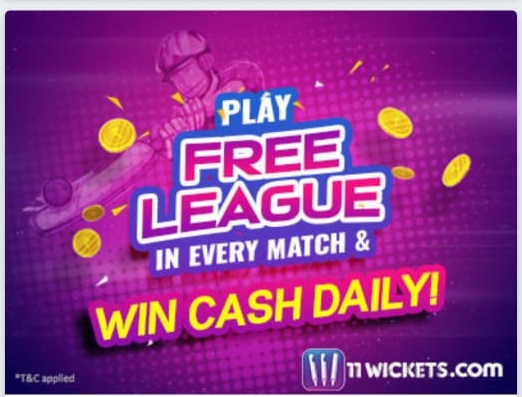 11wickets free leagues