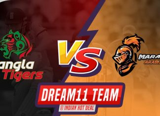 BAT vs MAR Dream11 Team Prediction T-10 LEAGUE 2019
