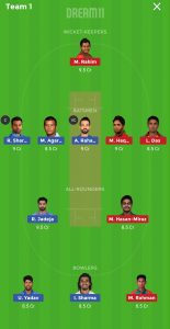 IND vs BAN Dream11 team for grand league