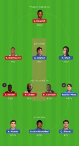 AFG VS WI Dream11 Team for grand league