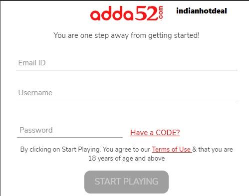 adda52 poker registration