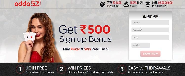 adda52 poker website in india