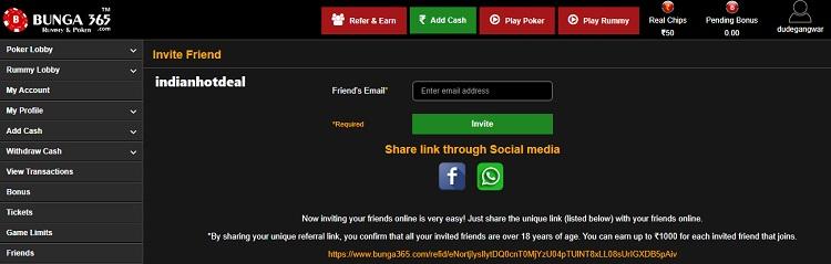 bunga365 refer and earn