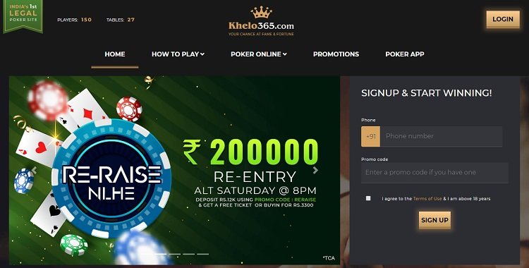 khelo365 poker website in india