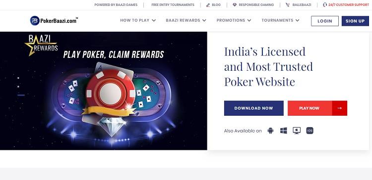 pokerbaazi poker website in india