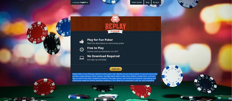 replay poker website in india