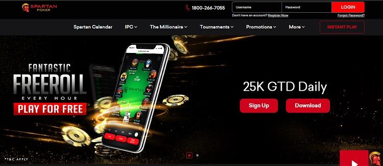 spartanpoker poker website in India