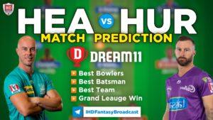 HEA vs HUR Dream 11 Team Prediction Big Bash 2019-20 (100% Winning)