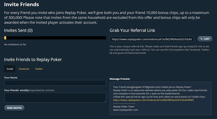replaypoker refer and earn