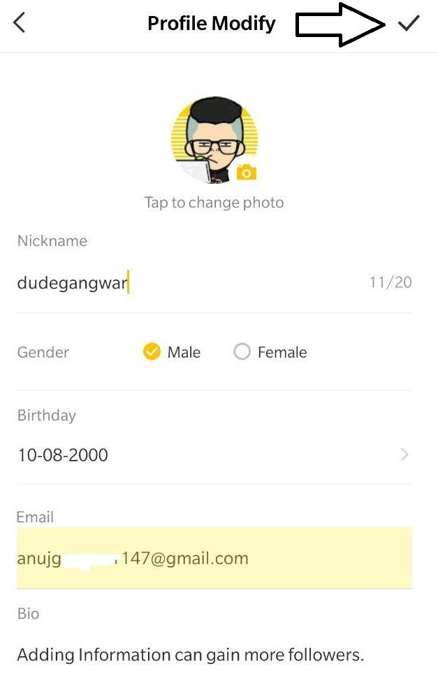 4fun app complete profile