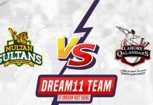 MUL vs LAH Dream11 Team Prediction Eliminator 2 PSL 2020 (100% Winning Team)