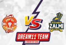 ISL vs PES Dream11 Team Predictions 13th Match PSL 2020 (100% Winning Team)