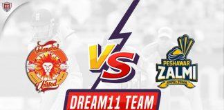 ISL vs PES Dream11 Team Predictions 13th Match PSL 2020 (100% Winning Team)