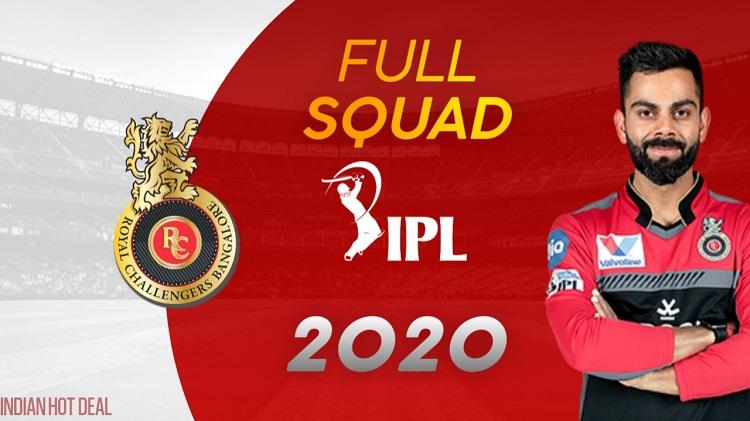 RCB Vivo IPL2020 Full Squad
