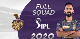 kkr full squad ipl 2020