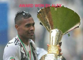Alex sandro award ceremoney