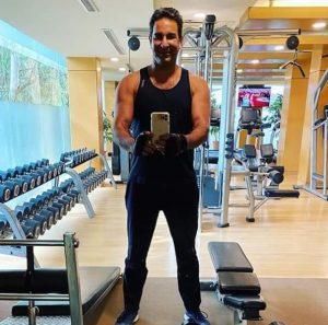 Wasim Akram at gym
