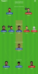 IND vs SA Dream11 Team for Small league