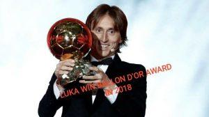luka win d'or award