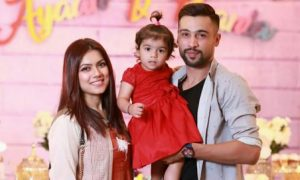Mohammad Amir with his family