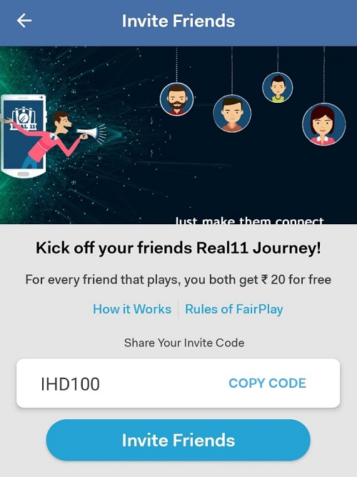 Real 11 Invite Code And Referral Code | Download Apk Real11