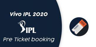 vivo ipl 2020 pre ticket booking
