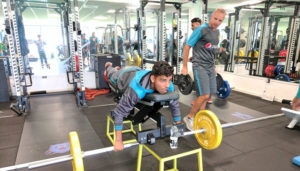 Shadab Khan at gym
