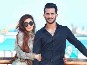 Hasan Ali with his wife