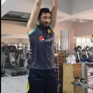 Junaid Khan at gym