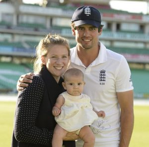 Alastair cook with his wife and children- Alastair Cook Full Biography