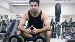 Ahmed Shahzad at gym