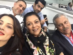 Zaheer Abbas with his family