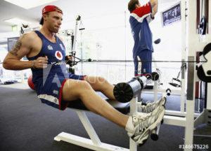 andrew flintoff in gym