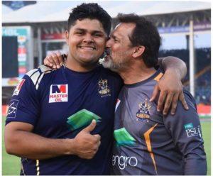 Moin Khan with his son Azam Khan